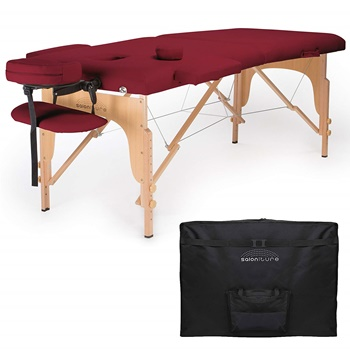 Saloniture Professional Portable Massage Table with Carrying Case B00IMKT0OC