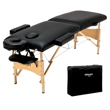 "Uenjoy Folding Massage Table 84"" with Head & Armrest B07CWRPHFD"