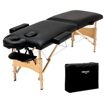 "Uenjoy Folding Massage Table 84"" with Head & Armrest B07CWRPHFD"