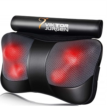 VIKTOR JURGEN Back Massage Pillow with Heat-Relaxation B01DWH11L4