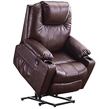 MAGIC UNION Power Lift Massage Recliner Faux Leather B01LZIIAR2