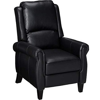 Christopher Knight Home 296597 Lloyd Black Leather Recliner Chair