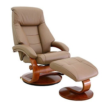Mac Motion Chairs Collection Mandal Top Grain Leather Recliner