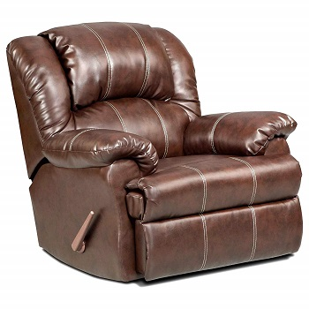 Roundhill Furniture Brandan Bonded Leather Dual Rocker Recliner